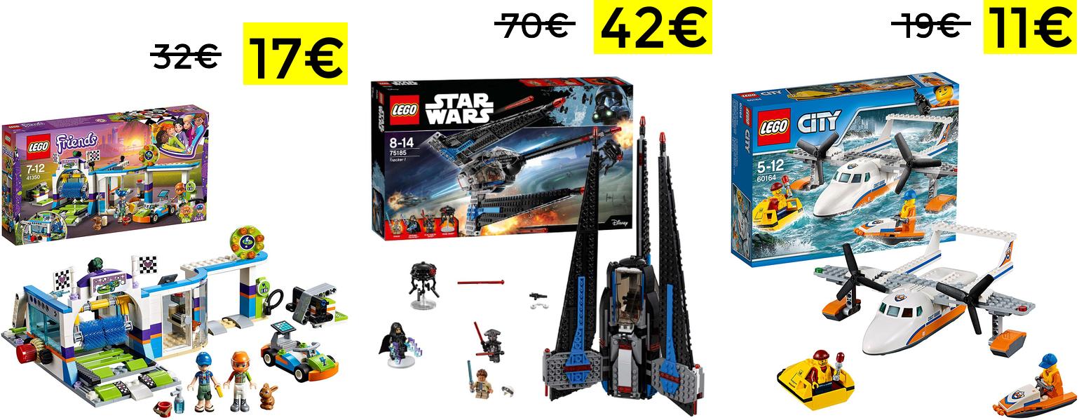 Bajadas de hasta el 45% en LEGO en Amazon