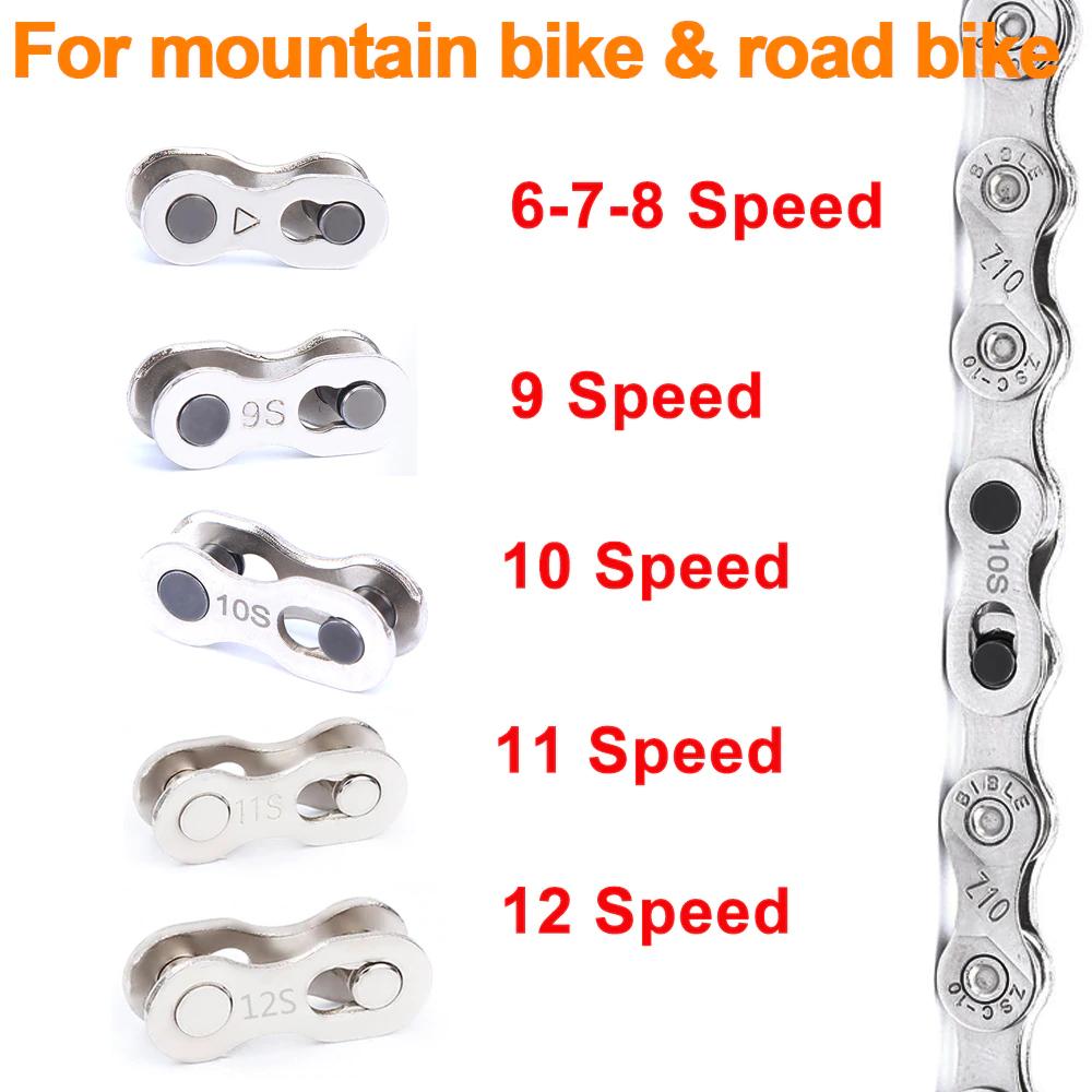 5 pares de eslabones rápidos para las cadenas de las bicicletas