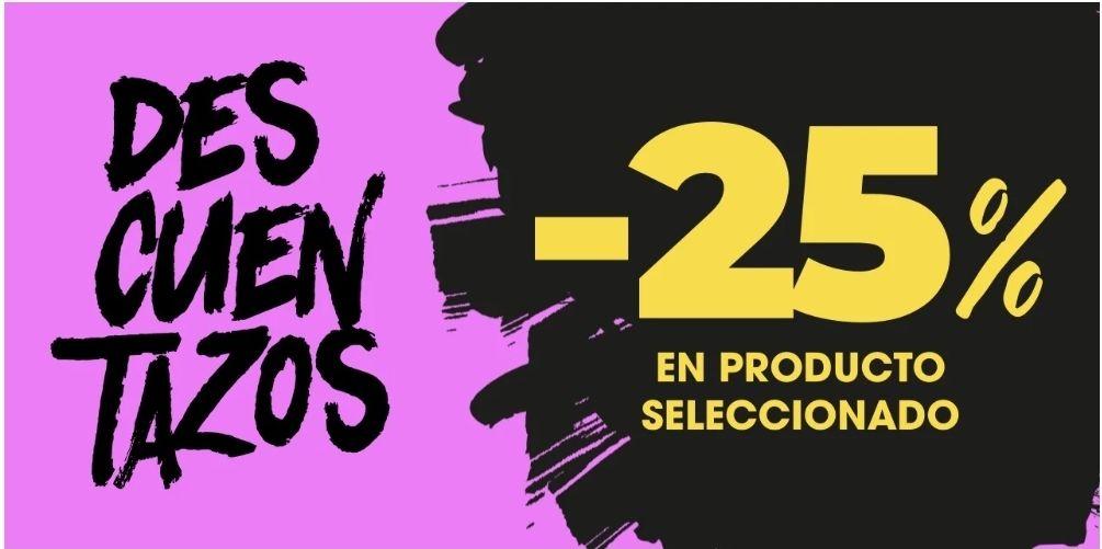 25% .Descuento en productos seleccionados ( Hasta el 03/05/21)