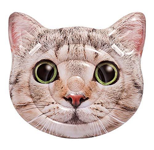 Intex- Colchoneta Gato hiperrealista con asas