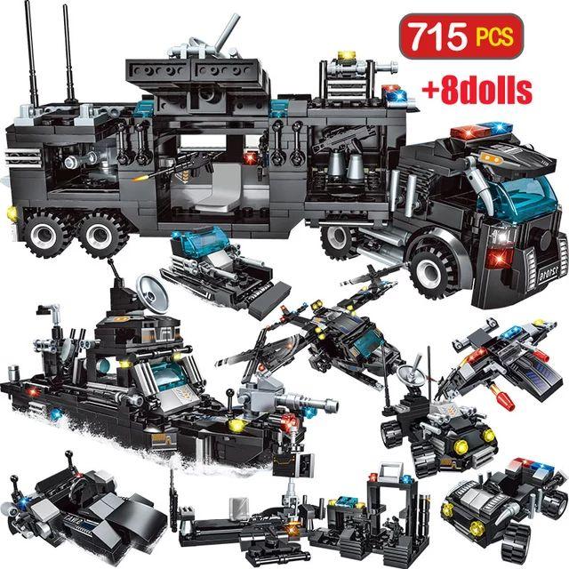 Juego de construcción 715 piezas