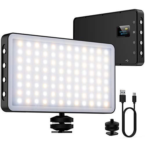 NinkBox Luz LED Cámara 96 LED regulables 3000K-6500K batería de 4000 mAh