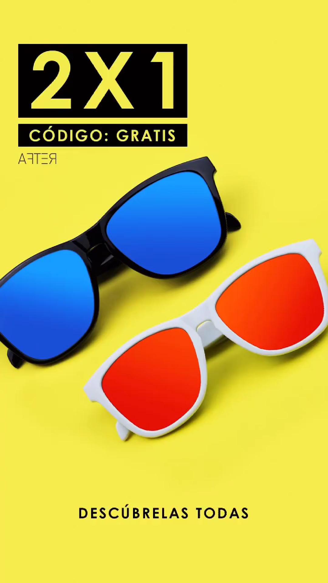 2x1 en gafas de sol aftersunglasses