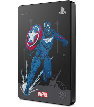 Disco duro externo 2TB - Seagate Game Drive PS4 Capitán América