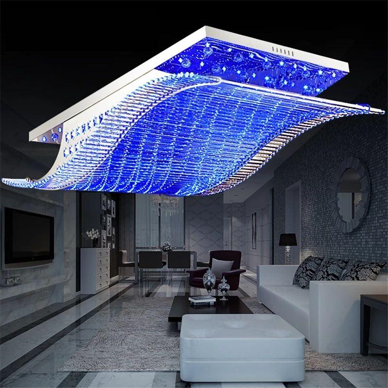 Lámpara de techo elegante con luces LED y control remoto