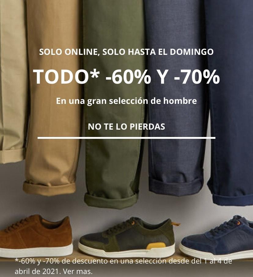 Hasta 70% descuento en selección ropa hombre