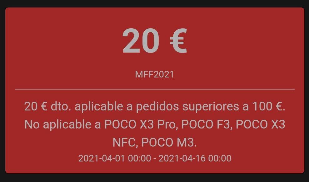 Cupon de 20€ por compras superiores a 100€ (PRIMERO VER DESCRIPCIÓN)