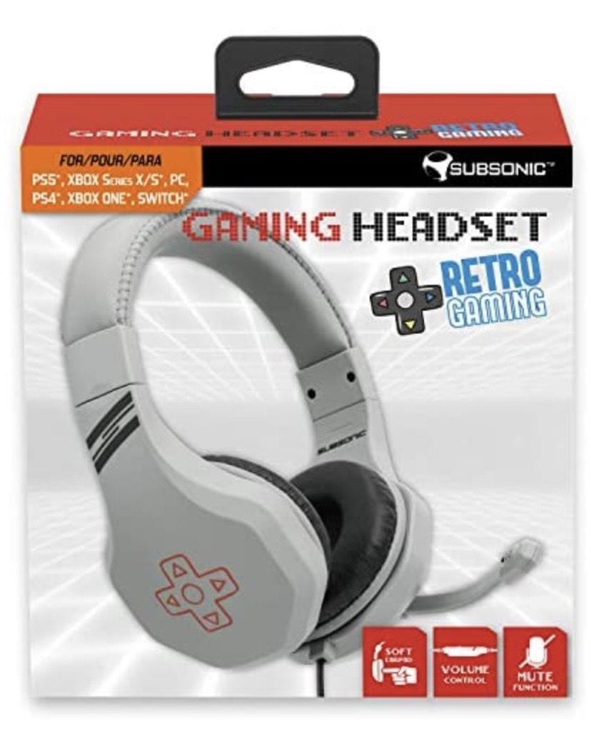 Subsonic - Auriculares gaming para juegos con micrófono