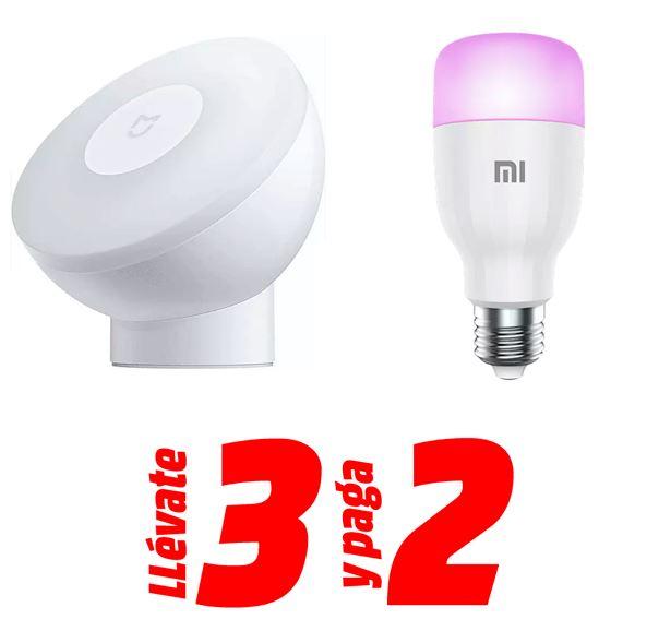 3x2 en Xiaomi Night light 2 y Xiaomi Mi LED Smart Bulb Essentials