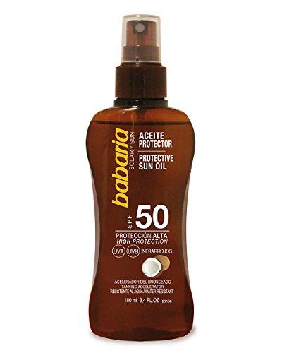 Aceite solar Babaria proteccion 50