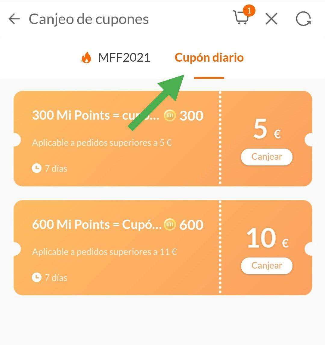Cupones 5/5€ & 10/10€ (Mi points) | Tienda Xiaomi