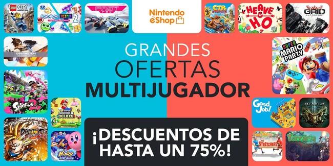 JUEGOS MULTIJUGADOR EN OFERTA NINTENDO SWITCH DE HASTA EL 75%