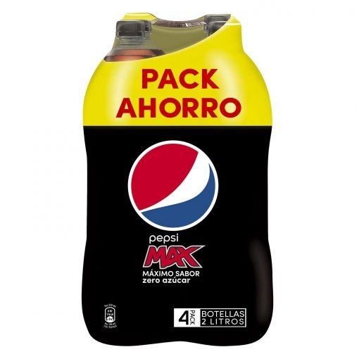 2x Refresco de cola Pepsi Max zero pack de 4 botellas de 2 l.