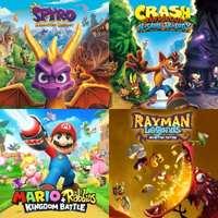 Spyro, Crash Bandicoot, Crash Team Racing Nitro-Fueled, Rayman Legends y Child Of Light (Nintendo Switch)