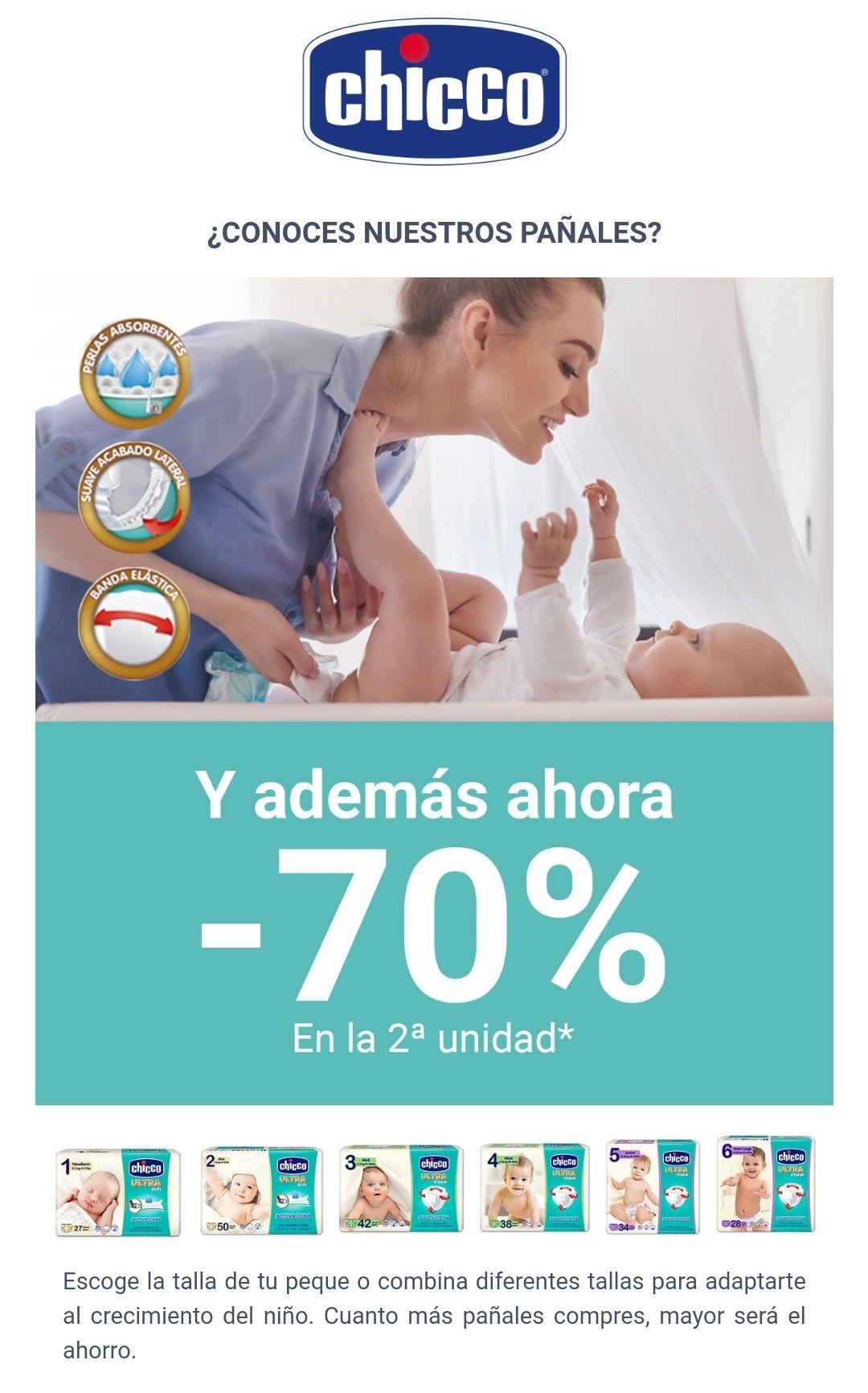 Pañales chicco - 2° unidad al 70%