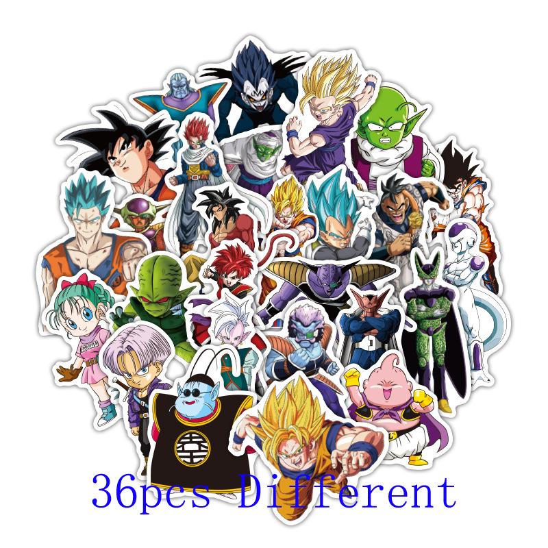 36 pegatinas de Dragon Ball por menos de 1€