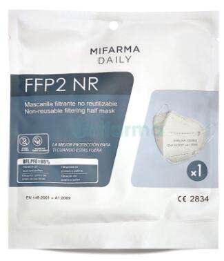 Mascarilla FFP2 por solo 0.45€ y envío gratuito