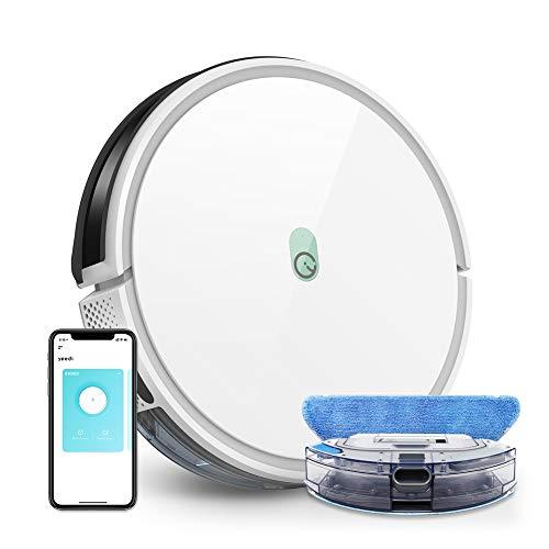 Robot Aspirador y Fregasuelos k650, Potencia Succión 2000 Pa, con Conexión Wi-Fi, Control por Voz con Alexa