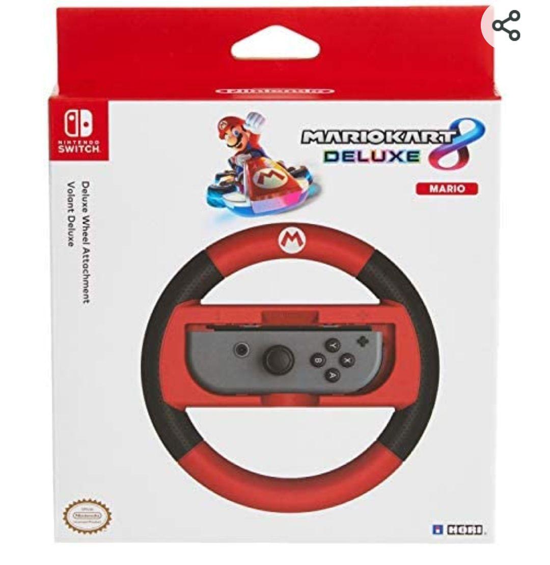 Hori - Volante Mario Kart 8 Deluxe (Nintendo Switch) Edición Mario o Luigi