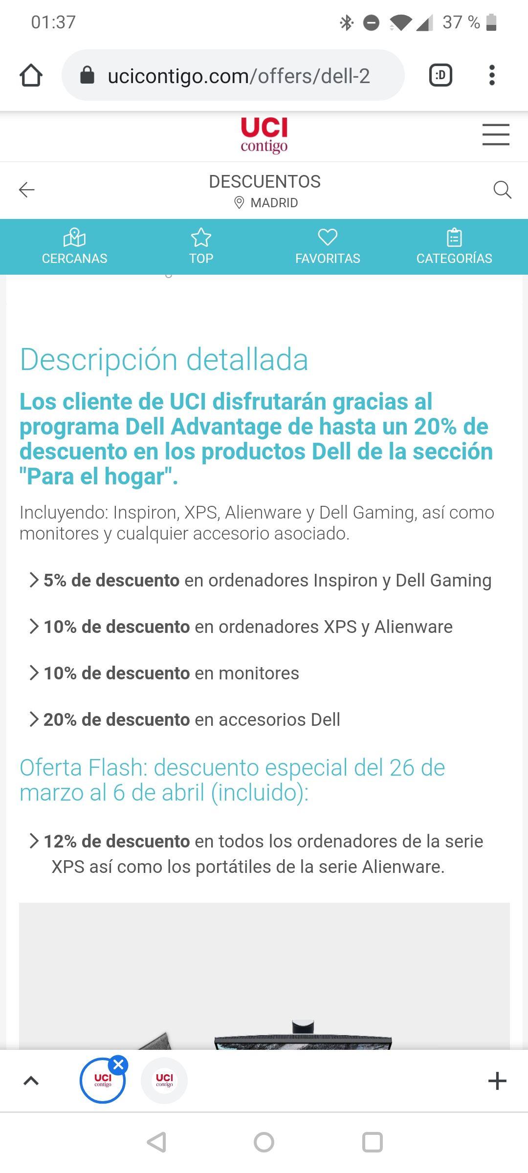 Código hasta 20% de descuento tienda Dell