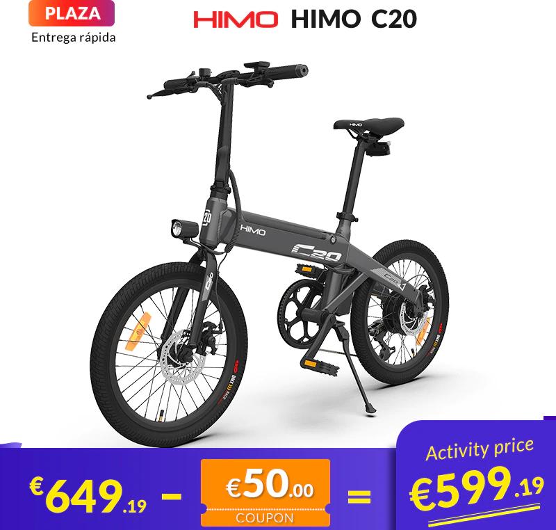 HIMO Bicicleta Eléctrica C20 Motor de 250W CC 25 km/h y 80KM Autonomía - Desde España