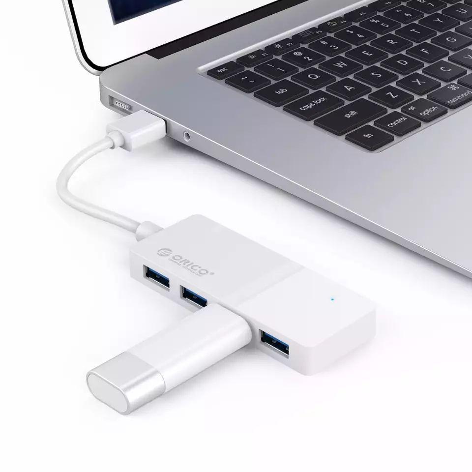 ORICO-HUB USB 3,0 de alta velocidad, divisor de 4 puertos, adaptador externo,