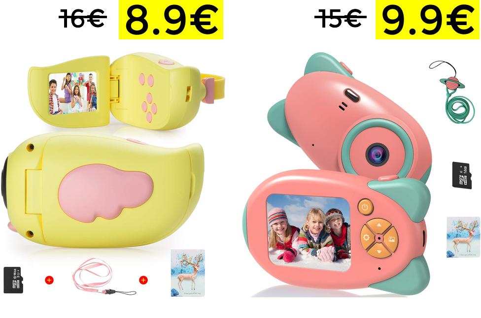 Cámara para niños 8Mpx 1080P desde 8.9€