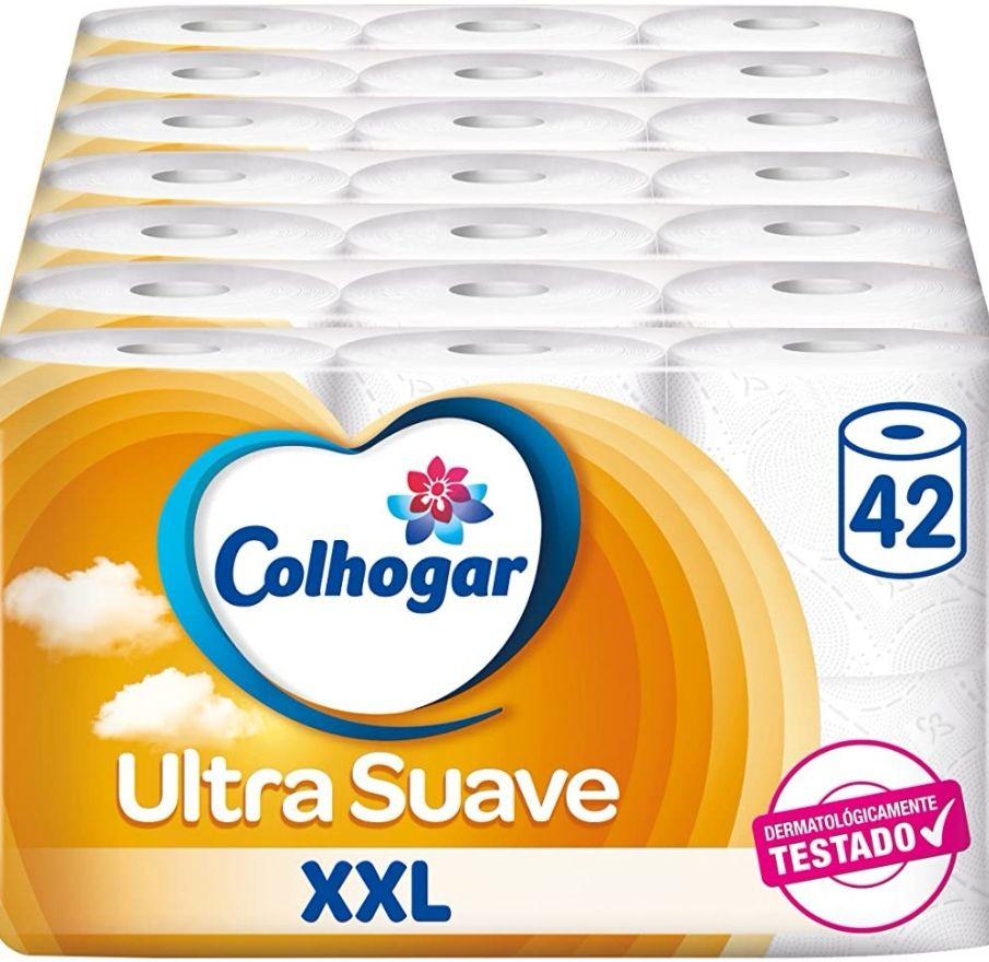 Colhogar Papel Higiénico doble Ultra Suave XXL - 42 rollos (Precio al tramitar)