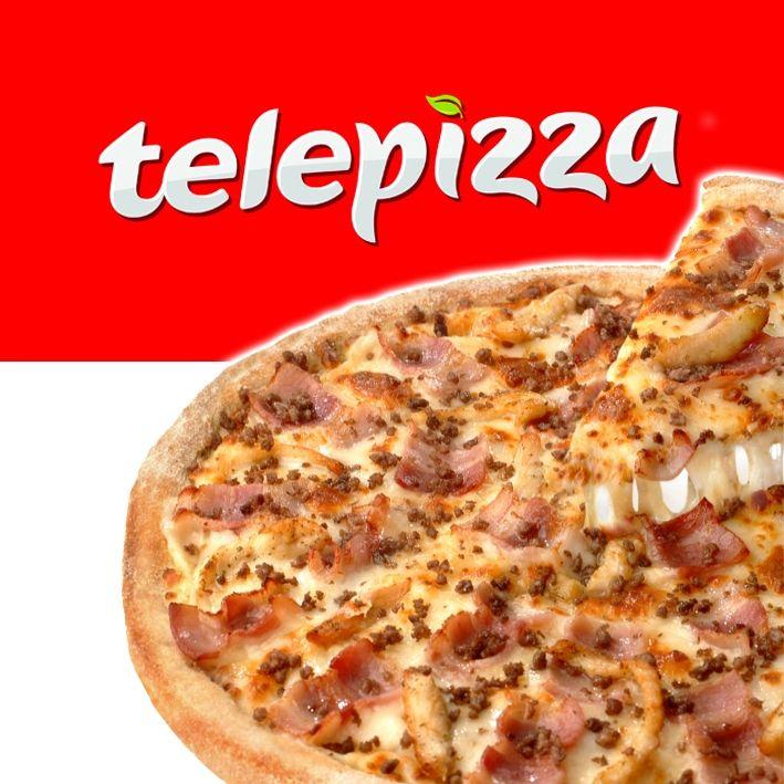 2 Telepizzas medianas hasta 3 ingredientes + 1 complemento a domicilio