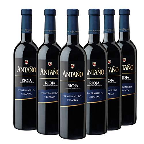 Antaño Crianza - Vino Tinto D.O Rioja - Pack de 6 Botellas x 750 ml