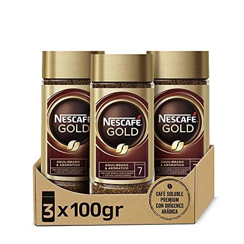 3 botes Nescafé Gold natural