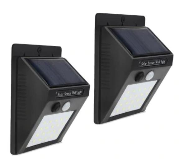 Pack de 2 lámparas solares LED