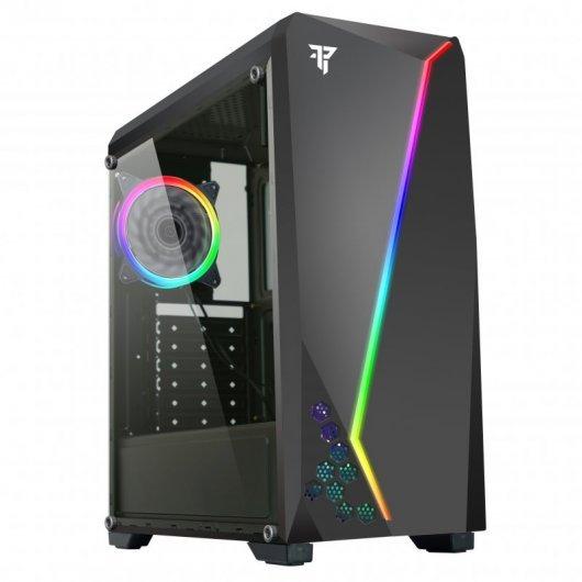 Caja Torre Tempest Aura USB 3.0 con Ventana ARGB Negra