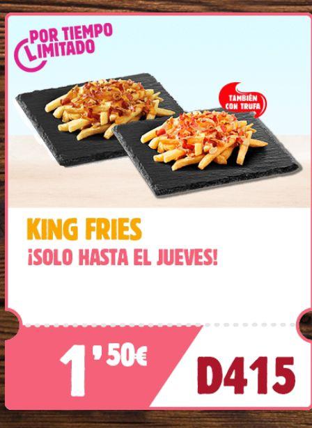 King fries a 1,50€ en Burger King