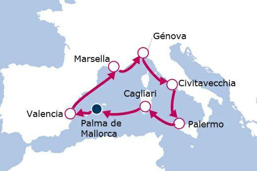 CRUCERO MSC Mediterráneo con salida 20/10 7 días/8noches