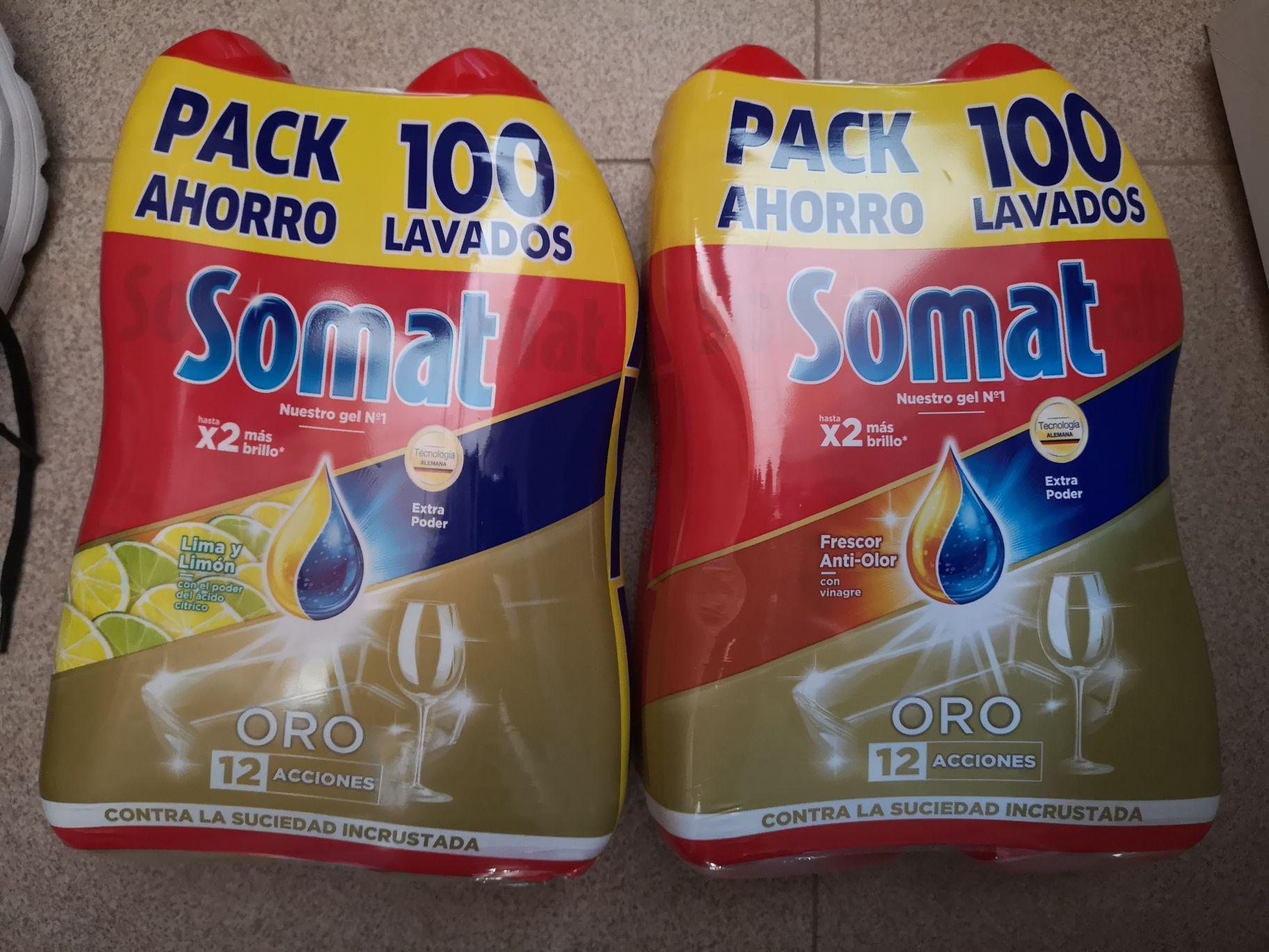 Lavavajillas Somat oro Gel XXL 100 lavados (2da Unidad al 70%)
