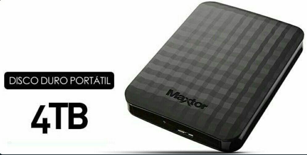 Disco duro portátil Maxtor M3 de 4 TB.