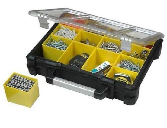 STANLEY Organizador profesional XL con 14 compartimentos extraíbles en dos tamaños y correa para colgar (Mínimo)