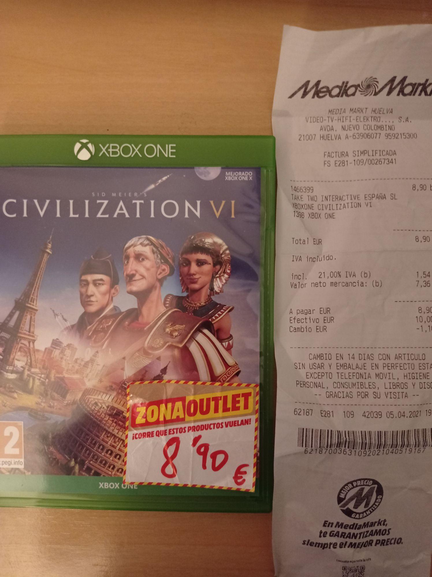 Civilization VI en el Mediamark de Huelva
