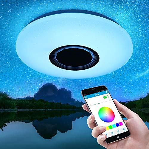 Viitech Luz de techo LED RGB, control remoto de aplicación