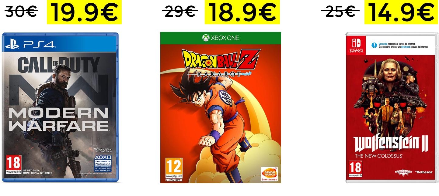 Bajada de precio en juegos en Media Markt