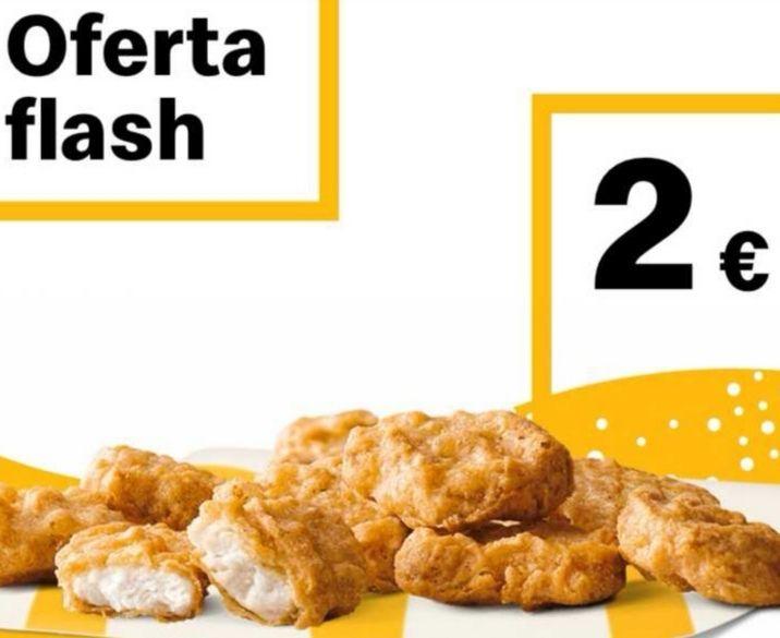 9 McNuggets x 2€. Oferta Flash!
