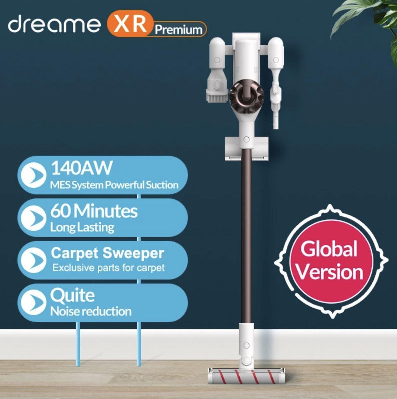 Dreame – Aspiradora portátil sin cables XR Premium con filtro ciclónico, Aspiradora vertical inalámbrica de 22KPA, para suelos y alfombras