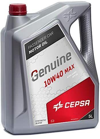 CEPSA GENUINE 10W40 MAX 5L - Lubricante semisintético para vehículos gasolina y diésel Aceite Coche
