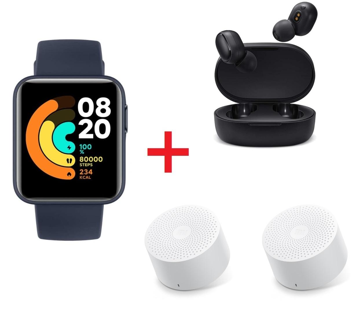 Mi Watch lite + Earbuds basic 2 + 2 x Bluetooth speaker