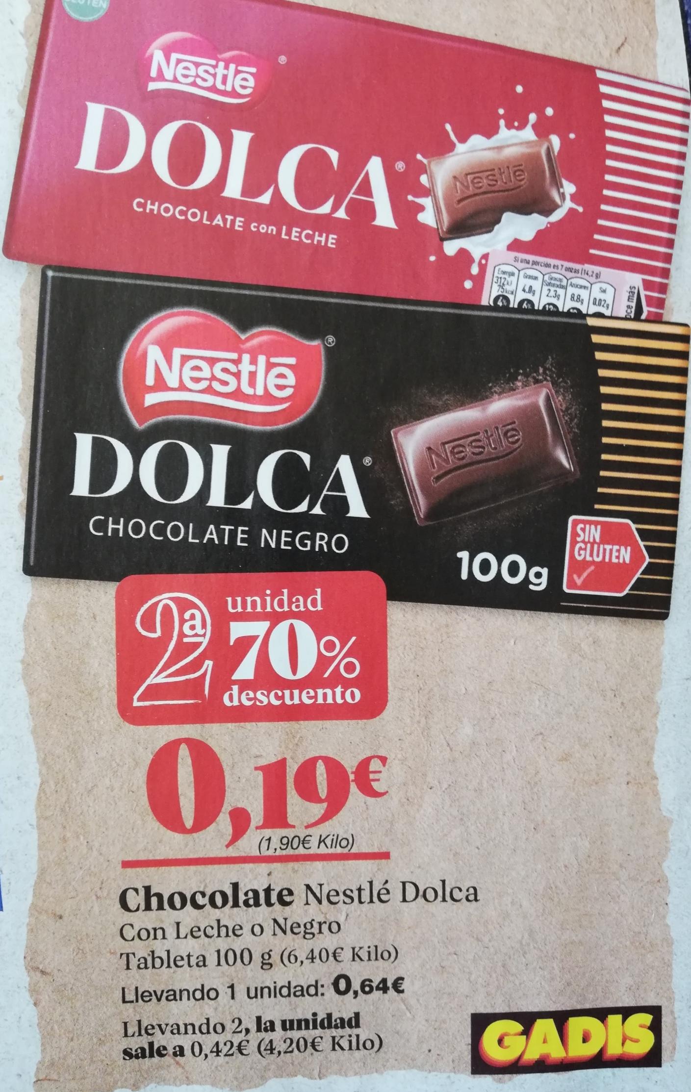 Chocolate Dolca (Nestlé). Gadis