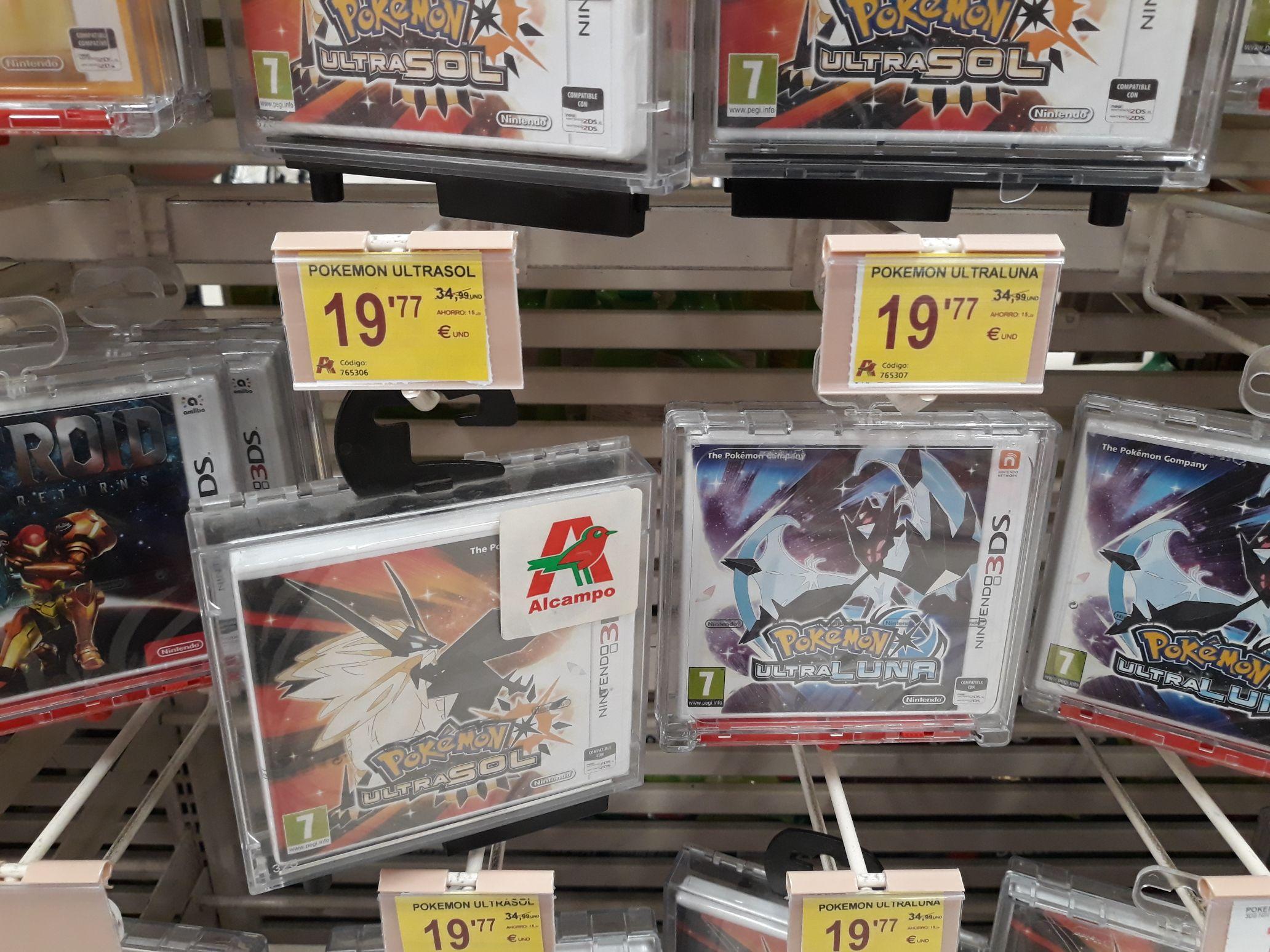 Pokemon Ultrasol/Ultraluna en Alcampo