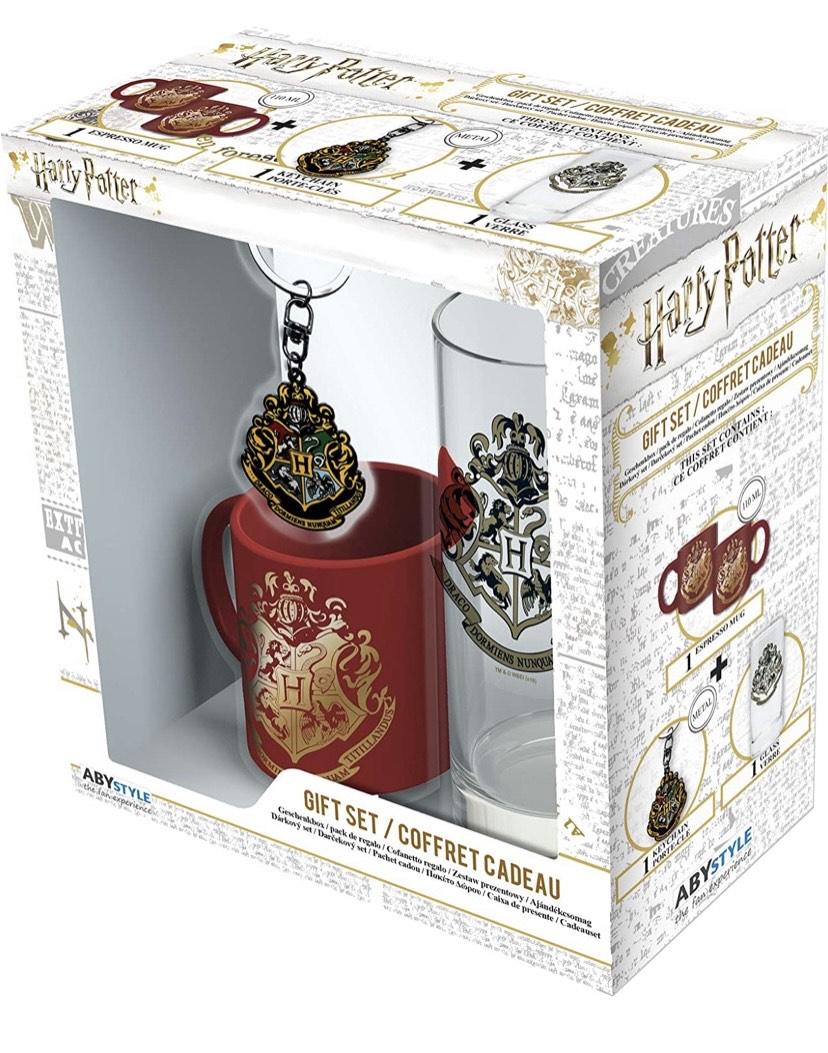 ABYstyle - Harry Potter – Pack de Hogwarts – Vaso + Llavero + Mini Taza