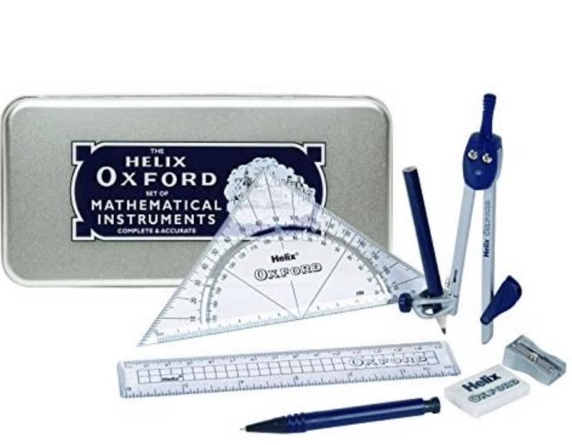 Helix Oxford Advance - Kit de accesorios para matemáticas y geometría