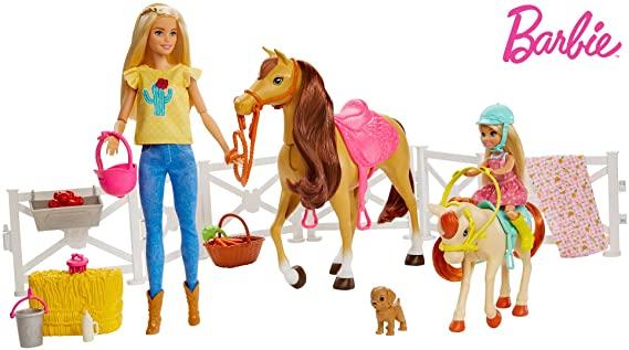 Barbie y Chelsea con caballos solo 20.9€